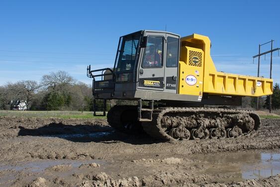 RT14 skimming through mud