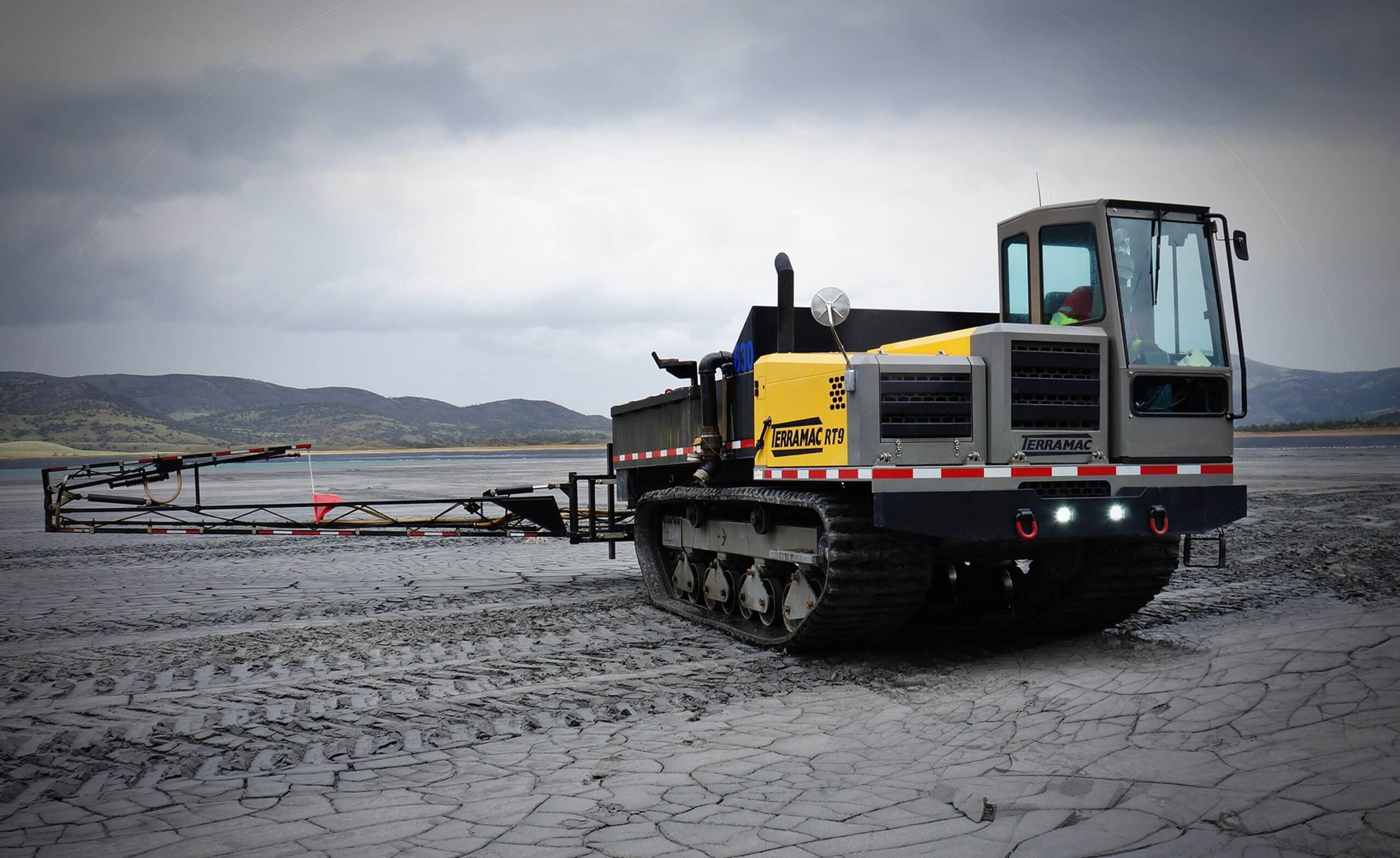 terramac crawler carriers with attachments for mining applications