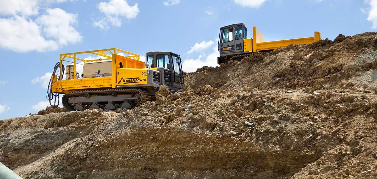 terramac RT9 crawler carrier for construction and excavation